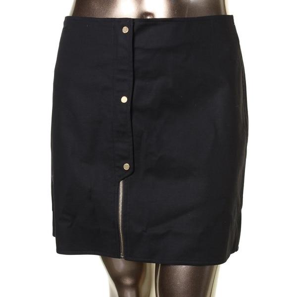 MICHAEL Michael Kors Womens Pencil Skirt Button Hidden Zipper