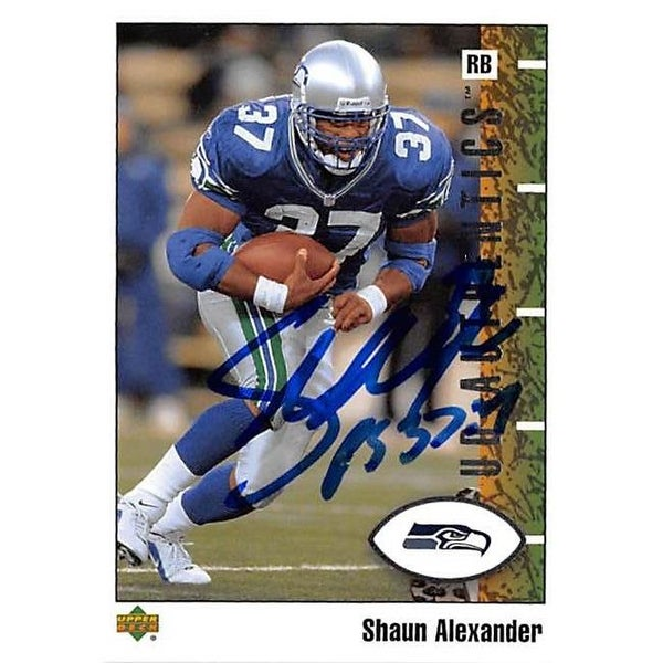 3c18d45c061 Shop Shaun Alexander Autographed Football Card Seattle Seahawks 2002 - Free  Shipping On Orders Over  45 - Overstock.com - 26208364