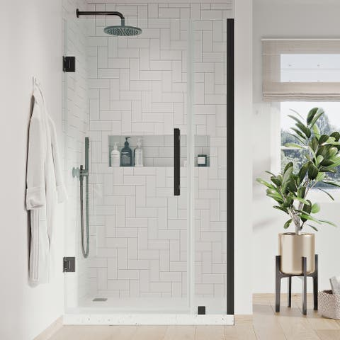 """Endless TP0120400 Tampa-Pro Alcove 31 7/8 to 33 1/16"""" W x 72"""" H Black"""