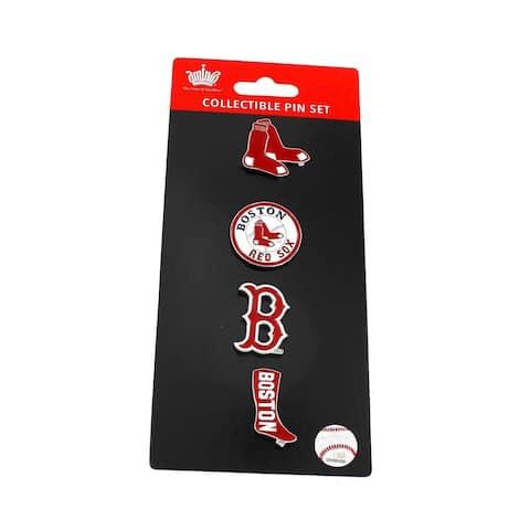 MLB Boston Red Sox Sports Team Logo 4 Pin Collectible Sets