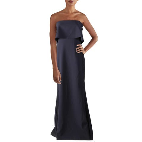 Likely Womens Evening Dress Popover Strapless - Navy