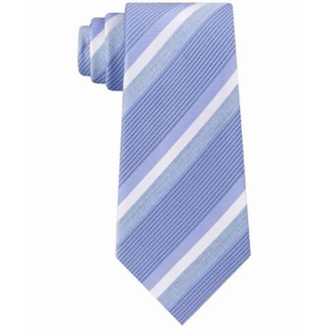 Kenneth Cole Reaction Men's Denim Striped Slim Neck Tie Silk