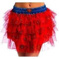 DC Comics Supergirl Tutu Costume Skirt Adult Standard - Red