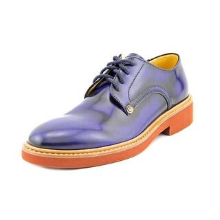 Cesare Paciotti 10308 Men Round Toe Patent Leather Oxford