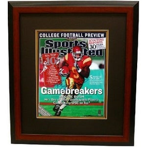 Reggie Bush signed USC Trojans Sports Illustrated 16x20 Photo Custom Framed