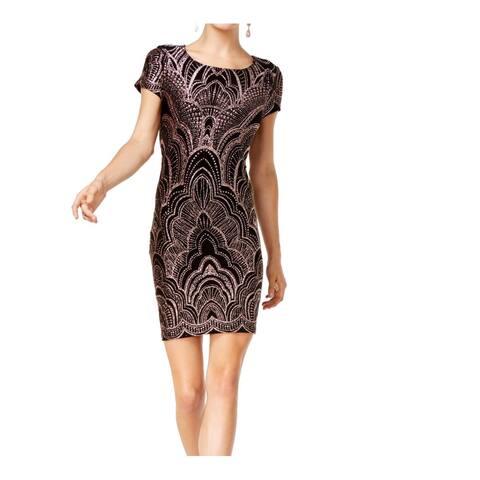Jump Apparel T-Shirt Dress Black Size XS Junior Sheath Glitter Knit