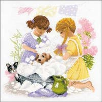 """11.75""""X11.75"""" 14 Count - Housewives Counted Cross Stitch Kit"""