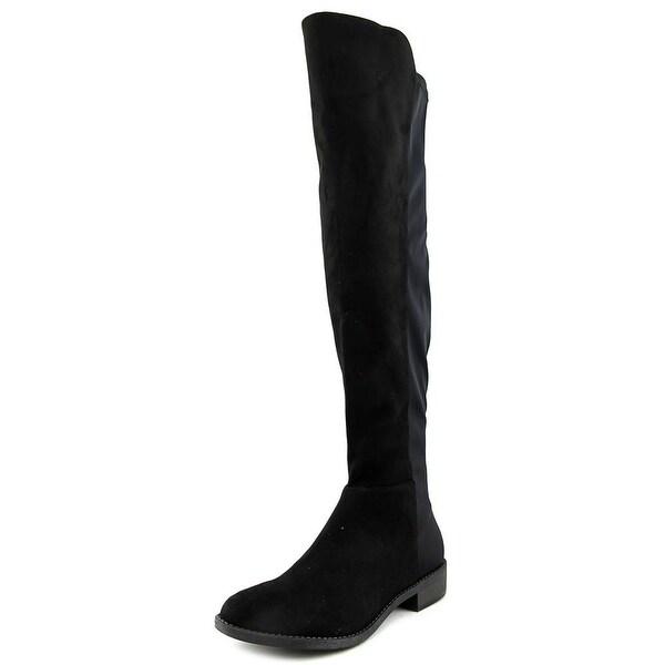 Rebel by Zigi Olaa Women Round Toe Canvas Black Knee High Boot