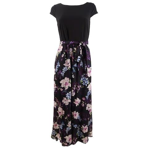 SL Fashions Women's Floral-Print Maxi Dress