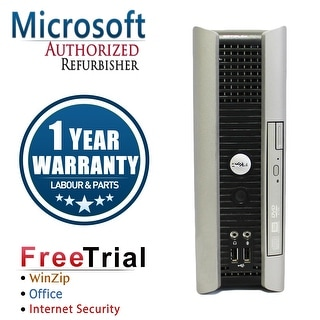Refurbished Dell OptiPlex 745 USFF Intel Core 2 Duo 2G 2G DDR2 80G DVD Win 7 Home 64 Bits 1 Year Warranty - Silver