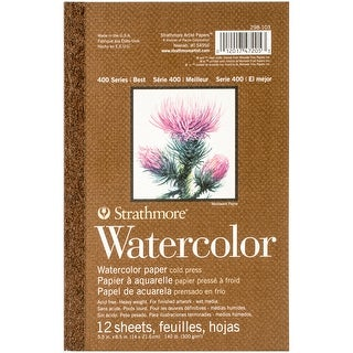 """Strathmore Watercolor Paper Pad 5.5""""X8.5""""-12 Sheets"""