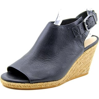 Via Spiga Ingrid Open Toe Leather Wedge Heel