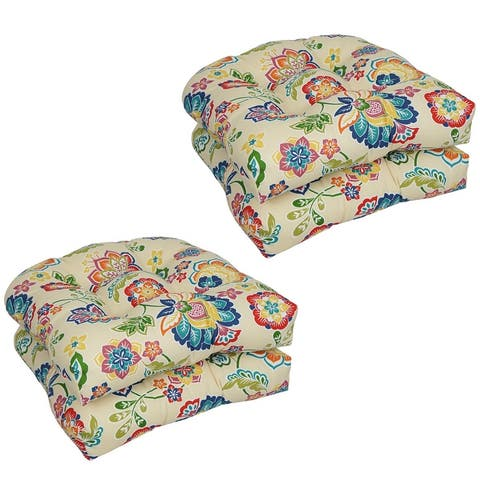 Blazing Needles 19-inch U-Shaped Dining Chair Cushions (Set of 4)