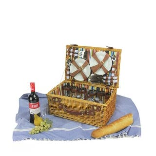 6-Person Hand Woven Honey Willow and Striped Picnic Basket Set with Accessories|https://ak1.ostkcdn.com/images/products/is/images/direct/281b97de72e85a696abebcf65c58352266286616/6-Person-Hand-Woven-Honey-Willow-and-Striped-Picnic-Basket-Set-with-Accessories.jpg?impolicy=medium