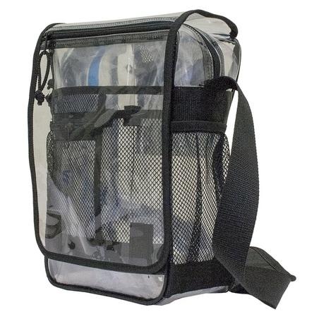 Amaro Transpa See Thru Clear Messenger Bag