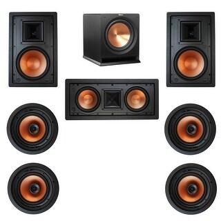 Klipsch 7.1 In-Wall System w\ 2 R-3800-W II, 1 Klipsch R-5502-W II, 4 Klipsch CDT-3800-C II, 1 Klipsch R-112SW Sub
