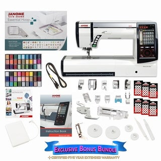 Janome Horizon Memory Craft 12000 Embroidery and Sewing Machine with Exclusive Bonus Bundle