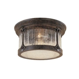 Designers Fountain 20935-CHN 2 Light Cast Aluminum Flush Mount from the Canyon Lake Collection