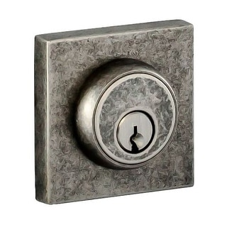 Miseno 1-BE Single Cylinder Solid Brass Deadbolt with Square Rose from the Mincio Collection