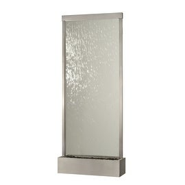8' Waterfall Grande by Bluworld, Stainless Steel Frame w/ Clear Glass