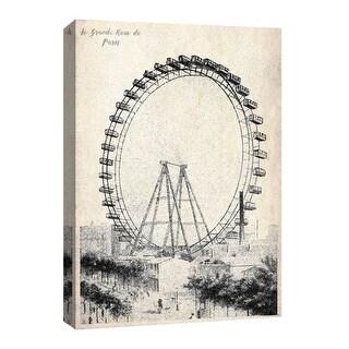 """PTM Images 9-126736  PTM Canvas Collection 8"""" x 10"""" - """"La Grande Roue De Paris"""" Giclee Carnivals & Fairs Art Print on Canvas"""