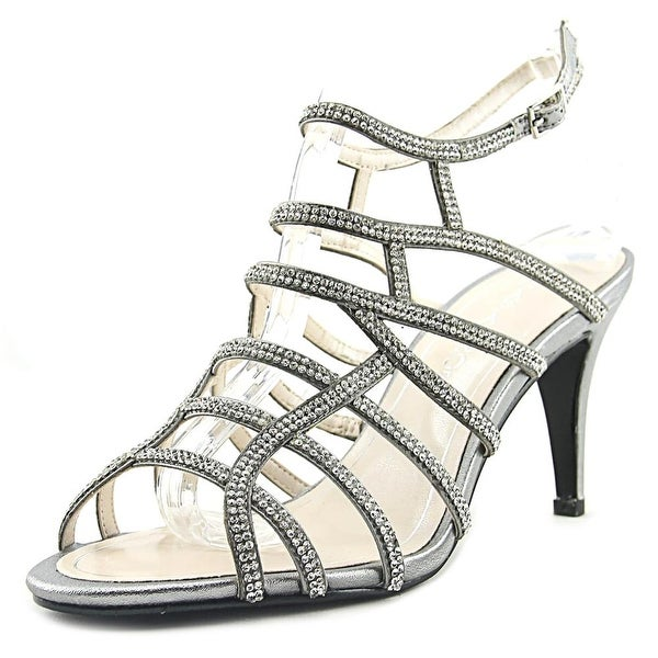 Caparros Harmonica Women Open Toe Synthetic Silver Sandals