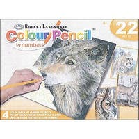 Royal Color Pencil By Number Activity Set