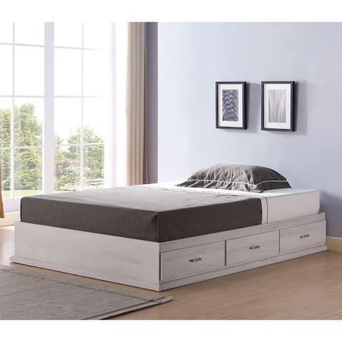 Roman Modern Multi-storage Platform Bed