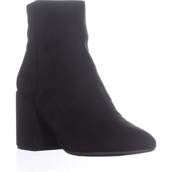 B35 Gatlin Block-Heel Ankle Boots, Black - 9 us