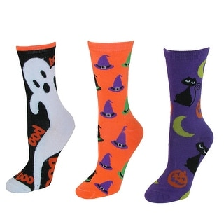 CTM® Women's Novelty Halloween Socks (3 Pair Pack)