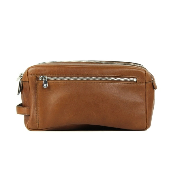 67462de2e479 Shop Brunello Cucinelli Mens Cognac Brown Leather Wash Bag - Free ...