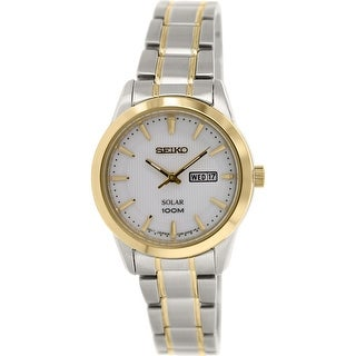 Seiko Women's Silver Stainless-Steel Plated Japanese Quartz Fashion Watch
