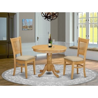 Link to 3-piece Kitchen Table and 2 Dining Chairs Dinette Set - Oak Finish Similar Items in Dining Room & Bar Furniture