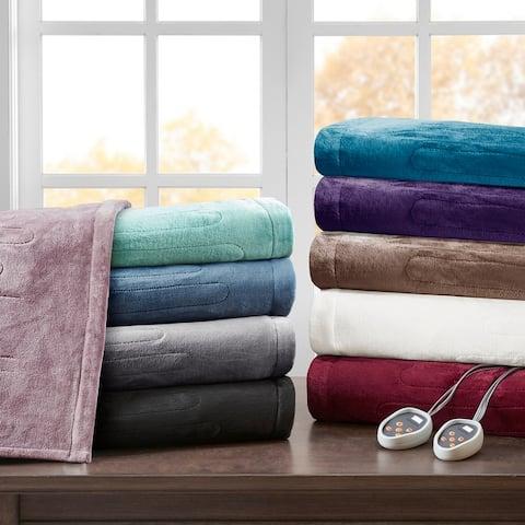 Beautyrest Heated Plush Secure Comfort Blanket