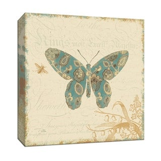 """PTM Images 9-153001  PTM Canvas Collection 12"""" x 12"""" - """"Natures Pattern II"""" Giclee Butterflies Art Print on Canvas"""