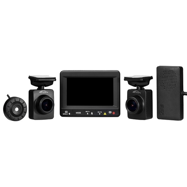 Spy Tec K1s Dual Car Dash Camera + Gps Logger | Front And Rear 1080P Remote L...