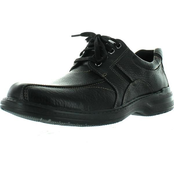 Bostonian Mens Koade Key Lace Up Casual Oxfords Shoes - black nubuck