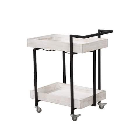 Furniture of America Atos Industrial Antique Finish Serving Cart