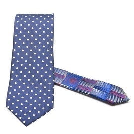 Versace Men's Medusa Tonal Silk Neck Tie Navy-Red-Blue