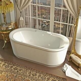 "Avano AV3467RW Fiji 66-7/8"" Acrylic Whirlpool Bathtub for Freestanding Installations with Center Drain - White"
