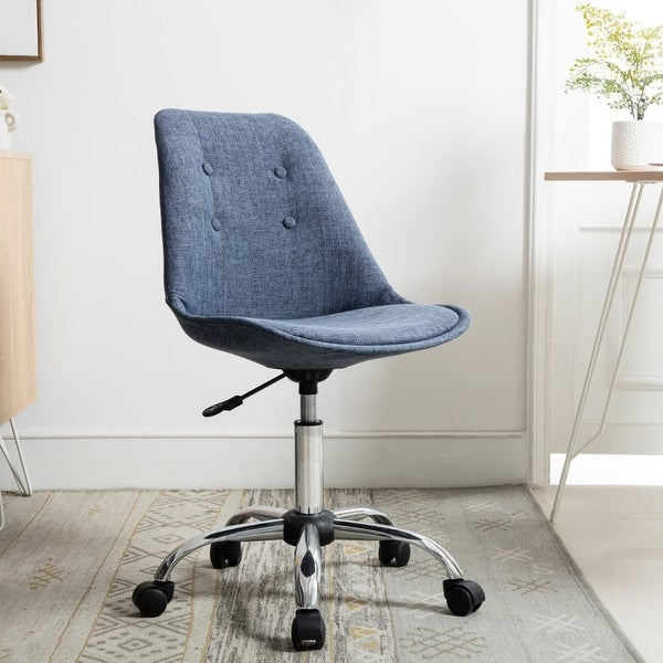 Porthos Swiveling Upholstered Home Office Chair. Opens flyout.