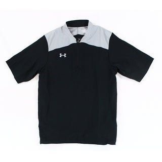 Under Armour NEW Black Colorblocked Mens Small S Active Shirts & Tops