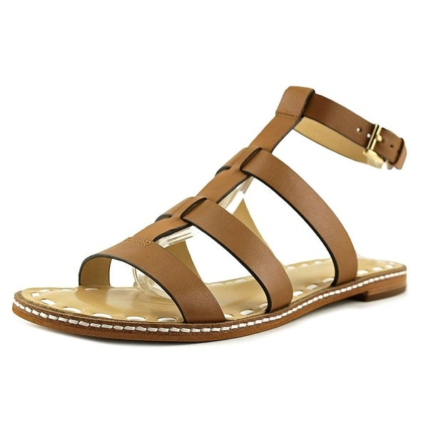 MICHAEL Michael Kors Womens Fallon Flat Sandal - acorn/white vachetta
