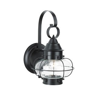 "Norwell Lighting 1323 Cottage Onion Single Light 14"" Tall Outdoor Wall Sconce with Clear Glass Shade (2 options available)"