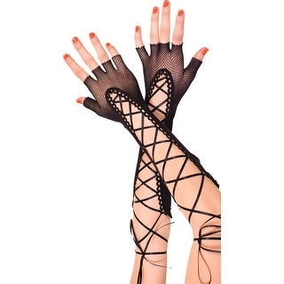Lace-up Elbow Length Gloves