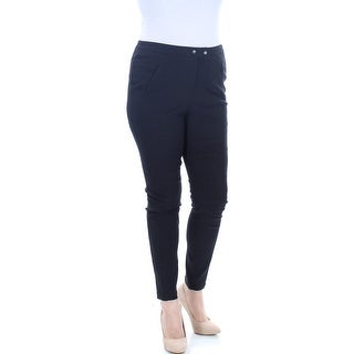 STYLE & COMPANY Womens New 1353 Black Pocketed Textured Skinny Leggings 12 B+B