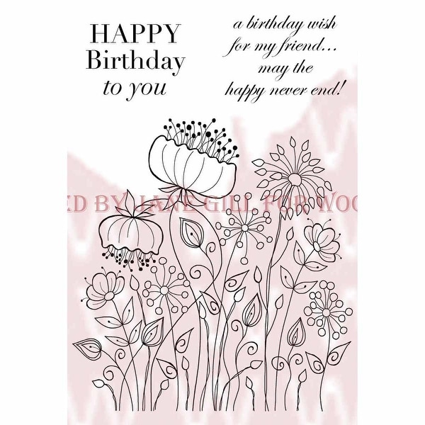 """Woodware Clear Stamps 3.5""""X5.5""""-Meadow Flower"""