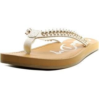 Rocket Dog Palm Beach Women Open Toe Synthetic Gold Flip Flop Sandal