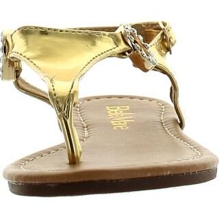 Bella Marie Girls Marie-9K Fashion Cute Slip On Buckle Strappy Summer Kids Sandals