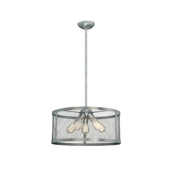 "Millennium Lighting 3275 Akron 5 Light 20"" Wide Pendant with Mesh Style Metal Drum Shade"
